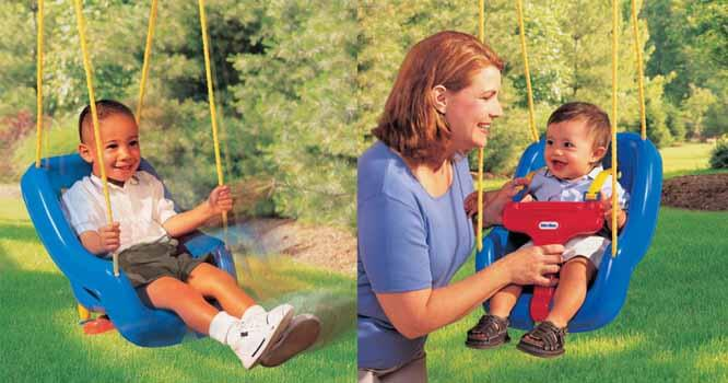 Little Tikes 2-in-1 Snug 'n Secure Swing 1